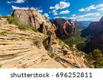 dramatic scenery in zion... | Shutterstock . vector #696252811