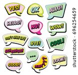 color funny cartoon superhero... | Shutterstock .eps vector #696254659