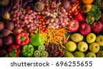 Top View Of Fresh Fruits And...