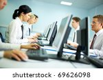 office with white collar... | Shutterstock . vector #69626098