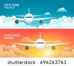 travel airplane tourism vector... | Shutterstock .eps vector #696263761