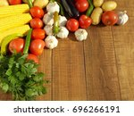 vegetables on the table | Shutterstock . vector #696266191