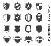 set of security labels black... | Shutterstock . vector #696270427