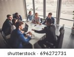 young business people group... | Shutterstock . vector #696272731