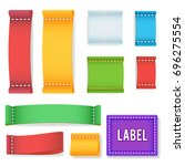 color label fabric blank....   Shutterstock . vector #696275554