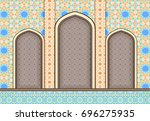 elements of islamic...   Shutterstock . vector #696275935