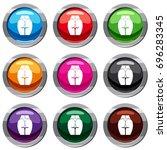 buttocks of girl set icon... | Shutterstock .eps vector #696283345