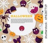 happy halloween poster   Shutterstock .eps vector #696287719