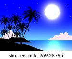 night sky with moon and stars   Shutterstock . vector #69628795