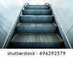 Escalator In Metro. Moving Up...
