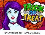 halloween illustration. vampire ... | Shutterstock .eps vector #696292687