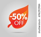special offer sale orange tag... | Shutterstock .eps vector #696292984