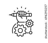 project development   modern... | Shutterstock .eps vector #696293257