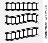 set realistic filmstrips on... | Shutterstock .eps vector #696293641