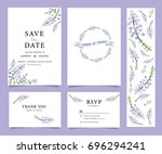 wedding invitation card... | Shutterstock .eps vector #696294241