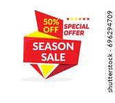 sale banner  template banner...   Shutterstock .eps vector #696294709