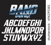 cool strong futuristic alphabet ... | Shutterstock .eps vector #696295381