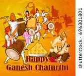lord ganpati in vector for... | Shutterstock .eps vector #696301801