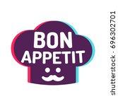 bon appetit. chef cap icon.... | Shutterstock .eps vector #696302701