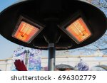 outdoor heater for public... | Shutterstock . vector #696302779
