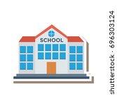 school icon | Shutterstock .eps vector #696303124