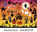 a set of various vector... | Shutterstock .eps vector #696305359