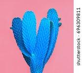 cactus. art gallery fashion... | Shutterstock . vector #696309811