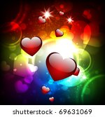 abstract background with hearts.... | Shutterstock .eps vector #69631069