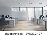 open space office environment... | Shutterstock . vector #696312427