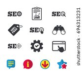 seo icons. search engine...