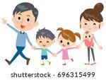 hand holding family 2... | Shutterstock .eps vector #696315499