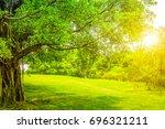 park forest  | Shutterstock . vector #696321211