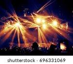 concert crowd attending a... | Shutterstock . vector #696331069