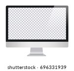 lcd monitor imac style for... | Shutterstock .eps vector #696331939