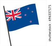 flag of new zealand   new... | Shutterstock .eps vector #696337171