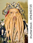 Small photo of London, UK. 29th July 2017. EDITORIAL - Man dressed as Davy Jones, from the Pirates of the Caribbean film series, at the London Film & Comic Con 2017 (Press pass/permission obtained from organisers).