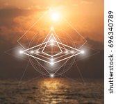 hipster scientific illustration ... | Shutterstock .eps vector #696340789