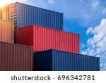 stack pattern of colourful... | Shutterstock . vector #696342781