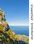 cape town table mountain and... | Shutterstock . vector #696349915