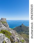 cape town table mountain cable... | Shutterstock . vector #696350035