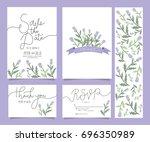 wedding invitation card... | Shutterstock .eps vector #696350989
