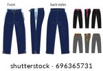 vector illustration of pants.... | Shutterstock .eps vector #696365731