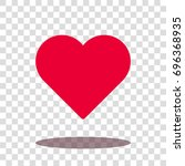 heart love valentine icon... | Shutterstock .eps vector #696368935