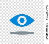 eye view watch icon vector... | Shutterstock .eps vector #696368941