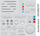 buttons set. web interface... | Shutterstock . vector #696380707