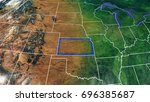 map of kansas united states of...   Shutterstock . vector #696385687