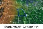 map of missouri united states...   Shutterstock . vector #696385744