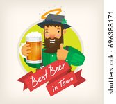 label template for a beer pub... | Shutterstock .eps vector #696388171
