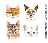 set of four different... | Shutterstock . vector #696388519