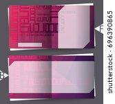 brochure template with abstract ... | Shutterstock . vector #696390865